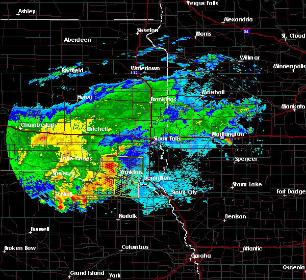 Radar Image for Severe Thunderstorms near Aten, NE at 8/10/2020 7:00 AM CDT