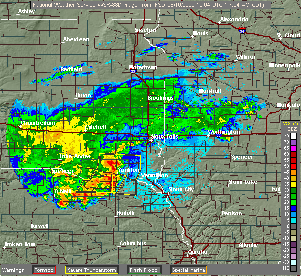 Radar Image for Severe Thunderstorms near Aten, NE at 8/10/2020 7:10 AM CDT