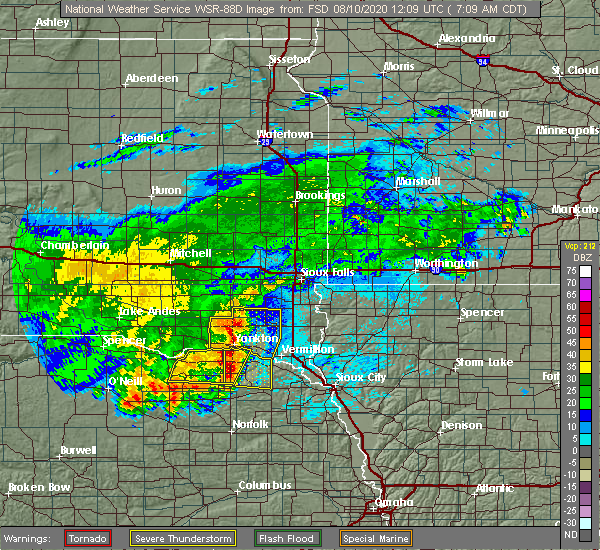Radar Image for Severe Thunderstorms near Aten, NE at 8/10/2020 7:13 AM CDT