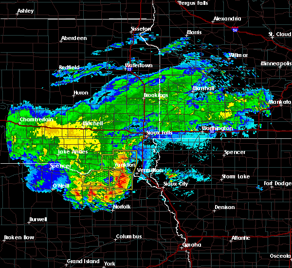 Radar Image for Severe Thunderstorms near Crofton, NE at 8/10/2020 7:29 AM CDT