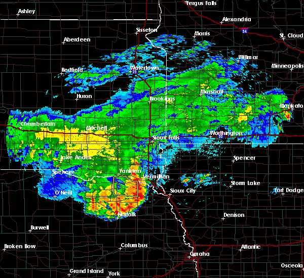 Radar Image for Severe Thunderstorms near Aten, NE at 8/10/2020 7:42 AM CDT