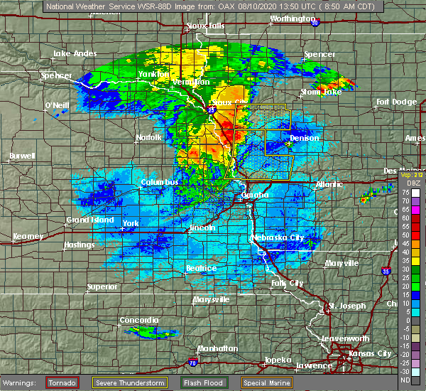 Radar Image for Severe Thunderstorms near Oto, IA at 8/10/2020 8:52 AM CDT