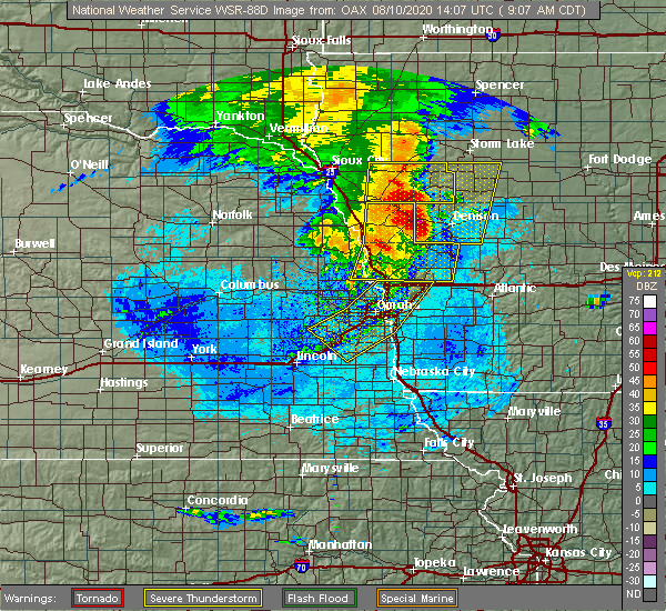 Radar Image for Severe Thunderstorms near Avoca, IA at 8/10/2020 9:12 AM CDT