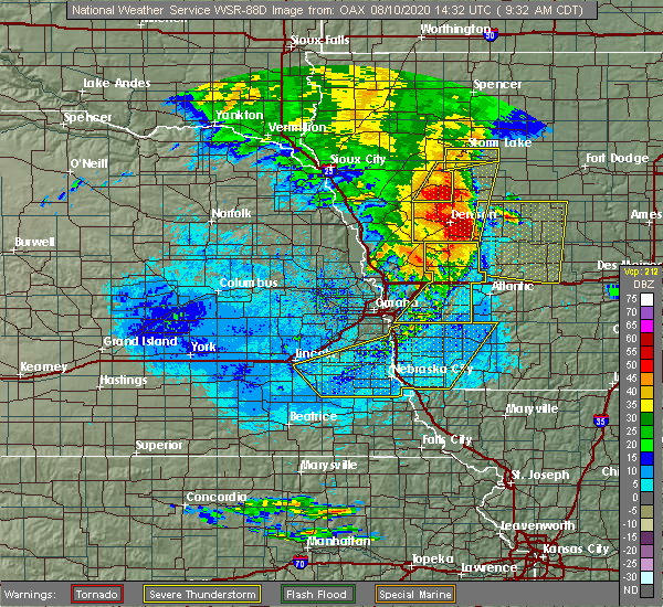 Radar Image for Severe Thunderstorms near Avoca, IA at 8/10/2020 9:38 AM CDT