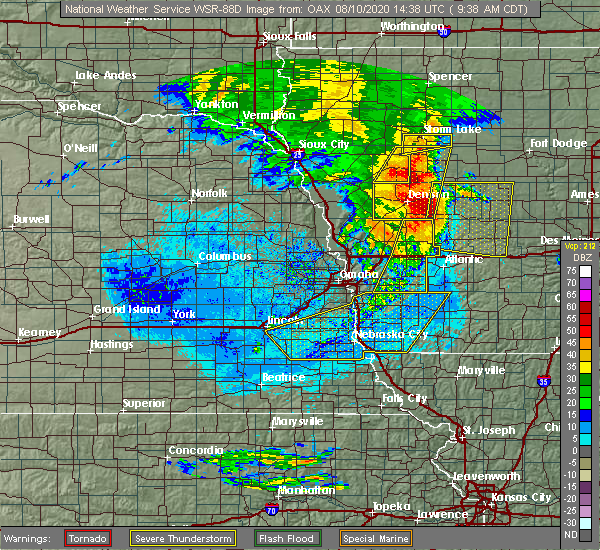 Radar Image for Severe Thunderstorms near Thurman, IA at 8/10/2020 9:42 AM CDT