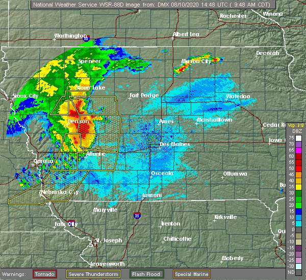 Radar Image for Severe Thunderstorms near Alta, IA at 8/10/2020 9:53 AM CDT