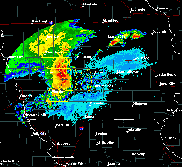 Radar Image for Severe Thunderstorms near Greenfield, IA at 8/10/2020 10:22 AM CDT