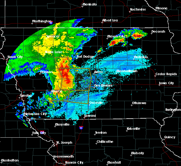 Radar Image for Severe Thunderstorms near De Soto, IA at 8/10/2020 10:28 AM CDT