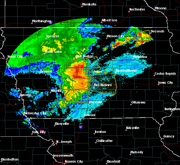 Radar Image for Severe Thunderstorms near Cumming, IA at 8/10/2020 10:54 AM CDT