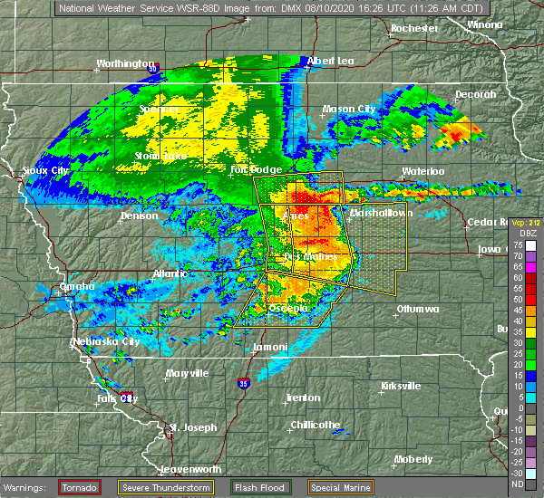 Radar Image for Severe Thunderstorms near Steamboat Rock, IA at 8/10/2020 11:35 AM CDT