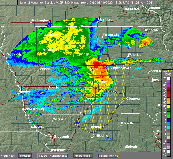 Radar Image for Severe Thunderstorms near Carlisle, IA at 8/10/2020 11:37 AM CDT