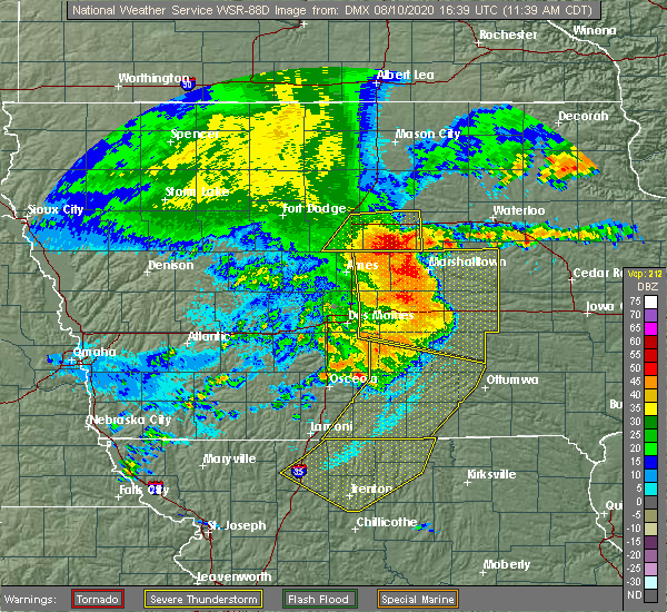 Radar Image for Severe Thunderstorms near Steamboat Rock, IA at 8/10/2020 11:46 AM CDT