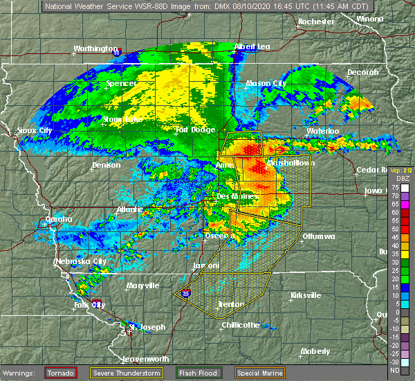 Radar Image for Severe Thunderstorms near Steamboat Rock, IA at 8/10/2020 11:50 AM CDT