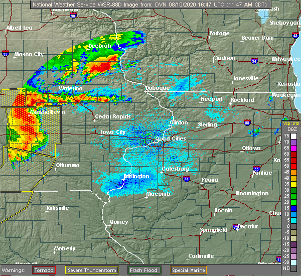 Radar Image for Severe Thunderstorms near Martelle, IA at 8/10/2020 11:51 AM CDT