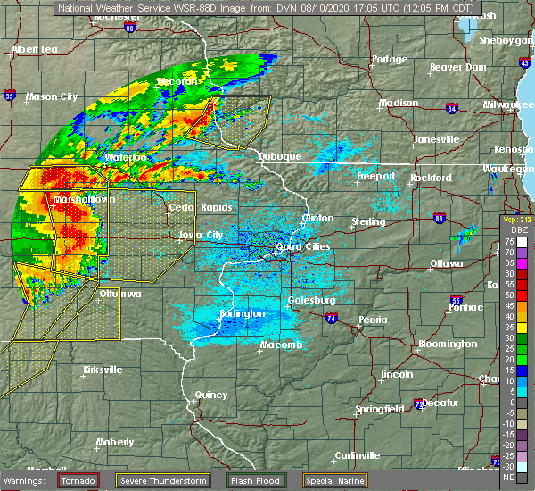 Radar Image for Severe Thunderstorms near Keosauqua, IA at 8/10/2020 12:08 PM CDT