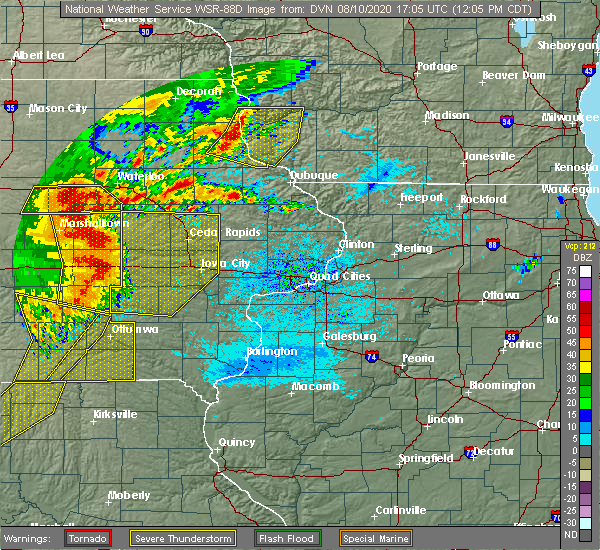 Radar Image for Severe Thunderstorms near Sigourney, IA at 8/10/2020 12:12 PM CDT