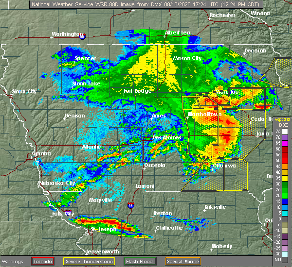 Radar Image for Severe Thunderstorms near Victor, IA at 8/10/2020 12:31 PM CDT