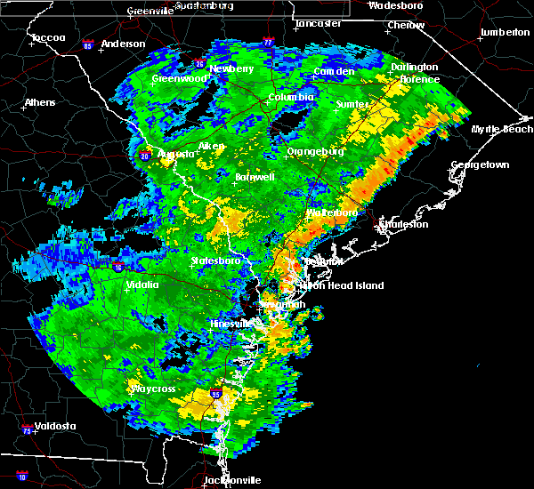 Radar Image for Severe Thunderstorms near Edisto Beach, SC at 7/2/2015 7:45 PM EDT