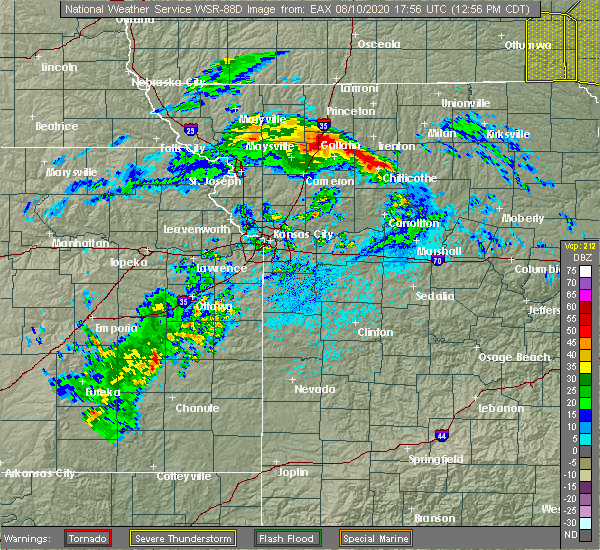 Radar Image for Severe Thunderstorms near Ridgeway, MO at 8/10/2020 1:01 PM CDT
