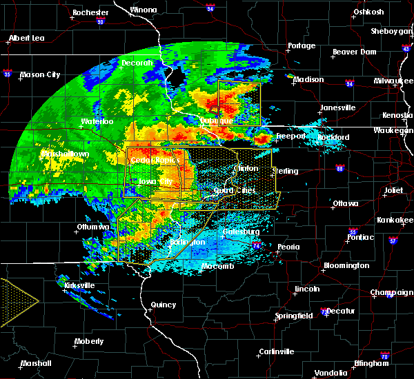 Radar Image for Severe Thunderstorms near Nora, IL at 8/10/2020 1:23 PM CDT