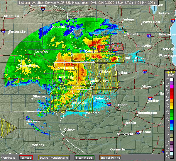 Radar Image for Severe Thunderstorms near Media, IL at 8/10/2020 1:26 PM CDT