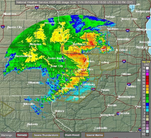 Radar Image for Severe Thunderstorms near Nora, IL at 8/10/2020 2:00 PM CDT
