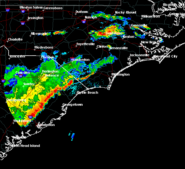 Radar Image for Severe Thunderstorms near Atlantic Beach, SC at 7/2/2015 7:47 PM EDT