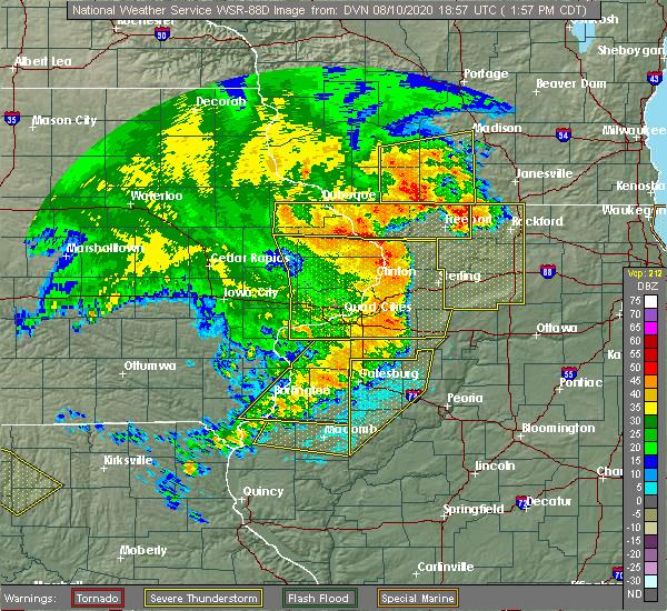 Radar Image for Severe Thunderstorms near De Pue, IL at 8/10/2020 2:03 PM CDT
