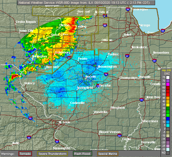 Radar Image for Severe Thunderstorms near Mapleton, IL at 8/10/2020 2:18 PM CDT
