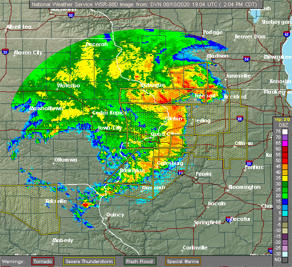 Radar Image for Severe Thunderstorms near Adeline, IL at 8/10/2020 2:18 PM CDT