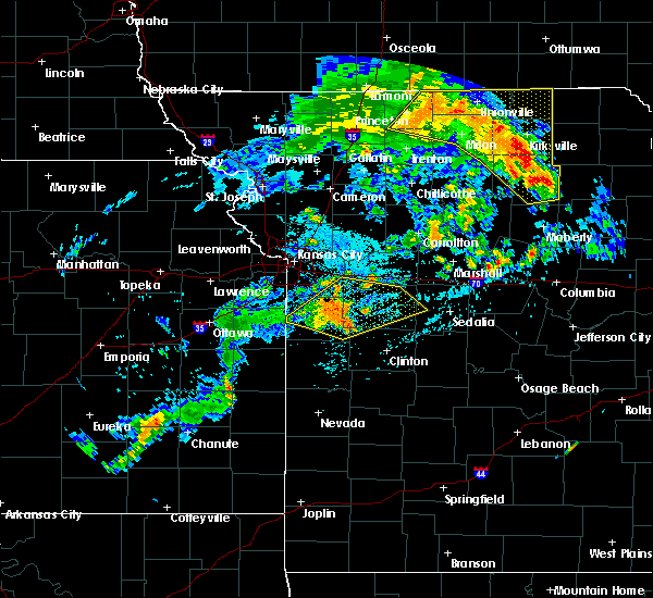 Radar Image for Severe Thunderstorms near Spickard, MO at 8/10/2020 2:18 PM CDT