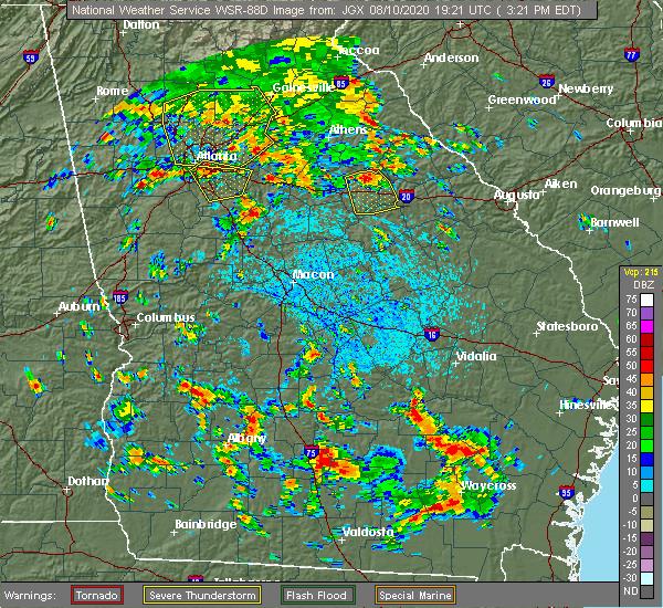 Radar Image for Severe Thunderstorms near White Plains, GA at 8/10/2020 3:25 PM EDT