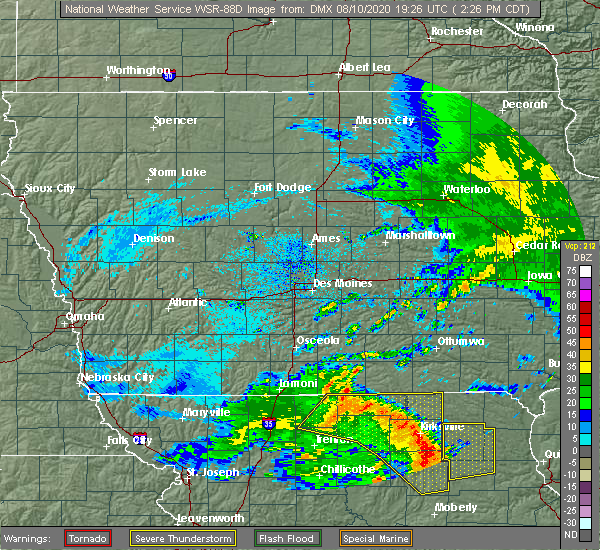 Radar Image for Severe Thunderstorms near Gibbs, MO at 8/10/2020 2:33 PM CDT