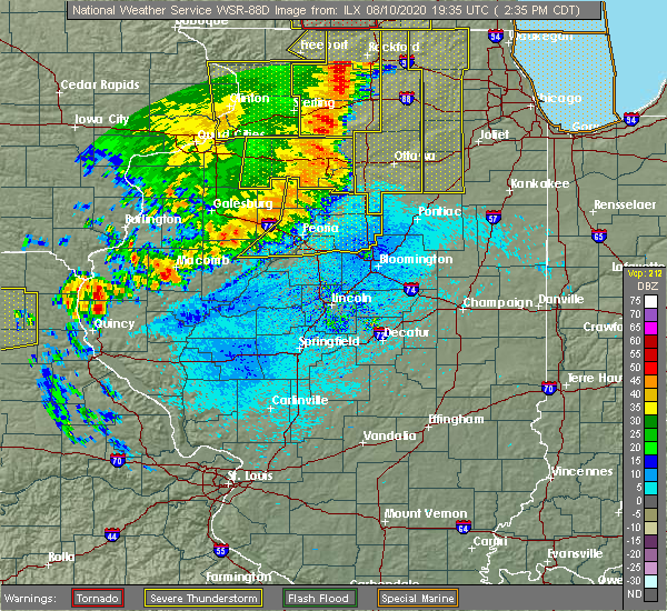 Radar Image for Severe Thunderstorms near Mapleton, IL at 8/10/2020 2:42 PM CDT