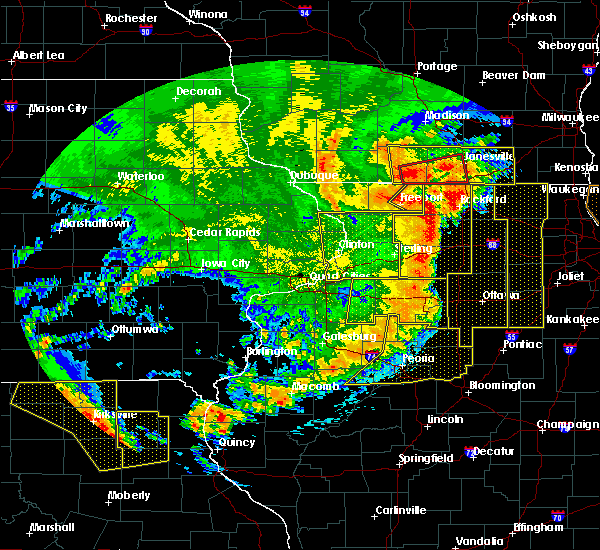 Radar Image for Severe Thunderstorms near Adeline, IL at 8/10/2020 2:44 PM CDT