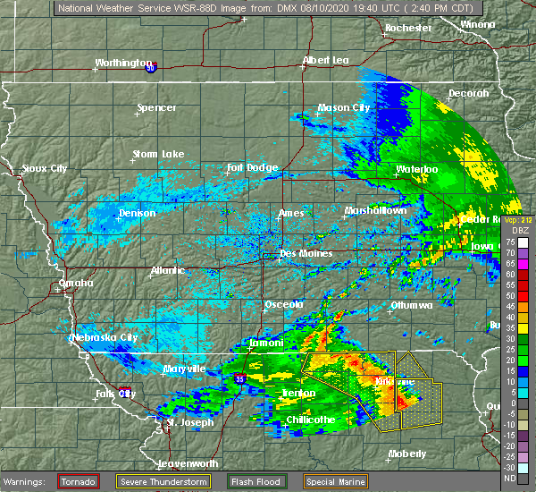 Radar Image for Severe Thunderstorms near Gibbs, MO at 8/10/2020 2:45 PM CDT