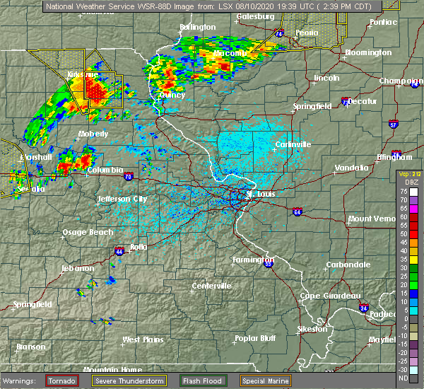 Radar Image for Severe Thunderstorms near La Belle, MO at 8/10/2020 2:50 PM CDT