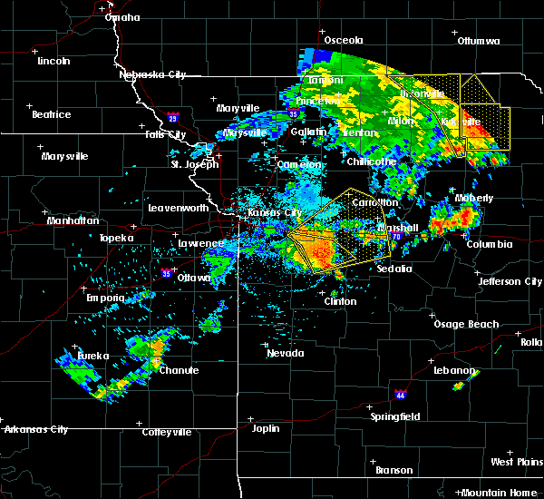 Radar Image for Severe Thunderstorms near Concordia, MO at 8/10/2020 2:59 PM CDT