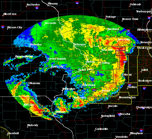 Radar Image for Severe Thunderstorms near Adeline, IL at 8/10/2020 3:05 PM CDT