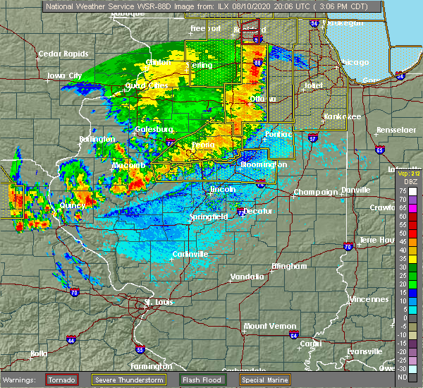 Radar Image for Severe Thunderstorms near Stanford, IL at 8/10/2020 3:11 PM CDT