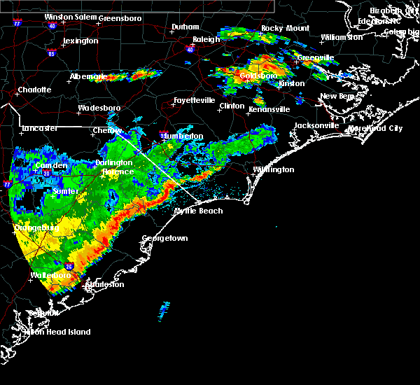 Radar Image for Severe Thunderstorms near Murrells Inlet, SC at 7/2/2015 8:02 PM EDT