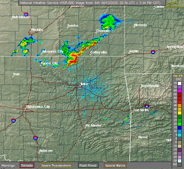 Radar Image for Severe Thunderstorms near Lenapah, OK at 8/10/2020 3:41 PM CDT