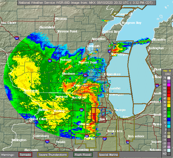 Radar Image for Severe Thunderstorms near Channel Lake, IL at 8/10/2020 3:42 PM CDT
