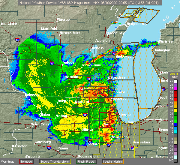 Radar Image for Severe Thunderstorms near Grayslake, IL at 8/10/2020 3:59 PM CDT