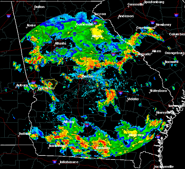 Radar Image for Severe Thunderstorms near Robins AFB, GA at 8/10/2020 5:10 PM EDT