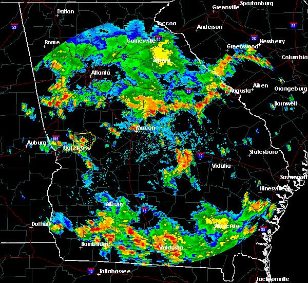 Radar Image for Severe Thunderstorms near Warner Robins, GA at 8/10/2020 5:10 PM EDT