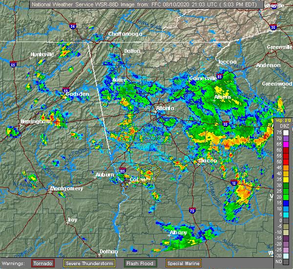 Radar Image for Severe Thunderstorms near Talbotton, GA at 8/10/2020 5:19 PM EDT