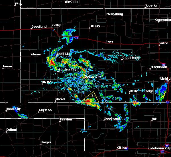 Radar Image for Severe Thunderstorms near Buffalo, OK at 8/10/2020 4:23 PM CDT