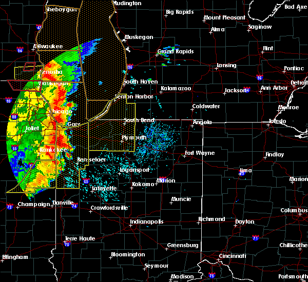 Radar Image for Severe Thunderstorms near Logansport, IN at 8/10/2020 5:25 PM EDT
