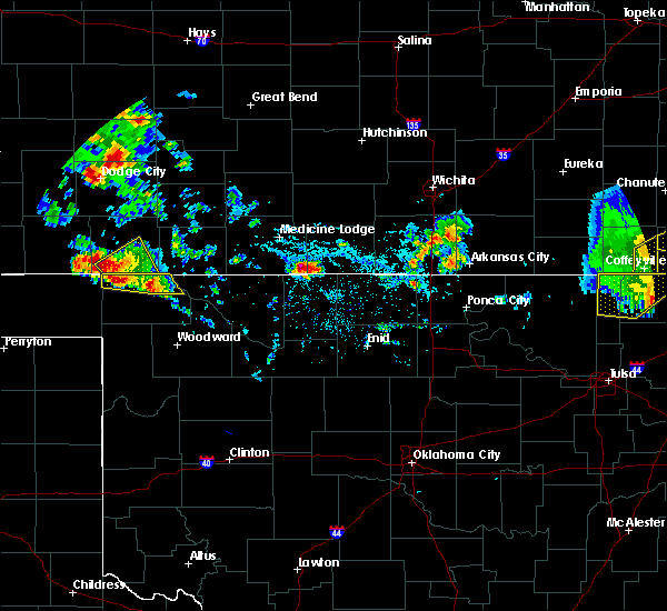 Radar Image for Severe Thunderstorms near Waldron, KS at 8/10/2020 4:29 PM CDT